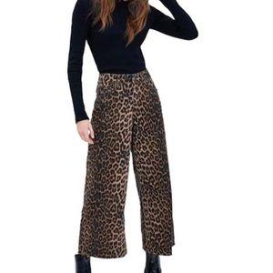 Zara Cheetah/Leopard Wide Leg Crop